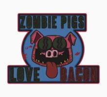 Zombie Pigs Love Bacon by zombiemama