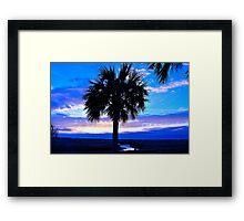 Blue Palm Framed Print