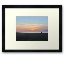 Cole Beach and sunset Framed Print