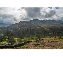 Hills above Elterwater Photographic Print