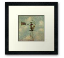 Vintage Windmill Framed Print