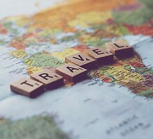Travel - Scrabble Photograph by Chrissy Pauley