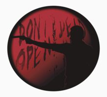 Rick Grimes Silhouette The Walking Dead - RED  by uglybyproxy