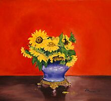 Donna's Sunflowers by MIKE DEVANEY