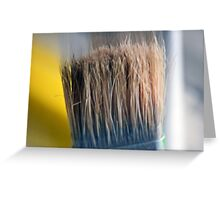 ©HS Paint Brush In Yellow IIA Greeting Card