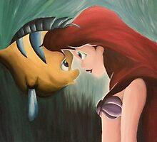 Ariel & Flounder by yoitslinds