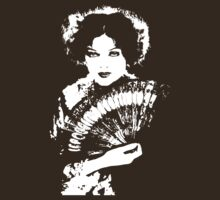 Myrna Loy Holds A Fan T-Shirt by Museenglish