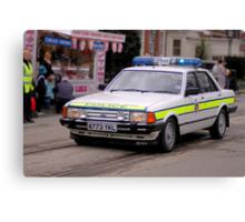 Police Mk2 Ford Granada 2.8i Canvas Print