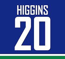 Vancouver Canucks Chris Higgins Jersey Back Phone Case by RussJericho23