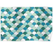 Pattern Fish Scales Poster