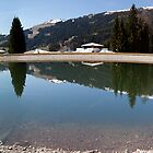 Alpine Lake at Les Gets by John Gaffen