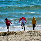 Fun On The Beach.- Lyme Dorset UK by lynn carter
