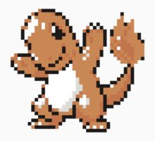 Charmander Pixel Art Stickers by ProjectPixel
