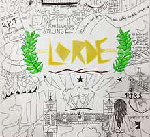 Lorde Collage by Olivia Lu