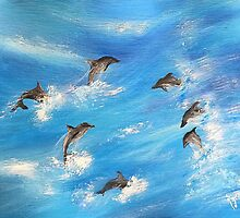 Surfin' Dolphins...... by WhiteDove Studio kj gordon