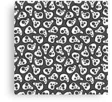 Funny zombie pattern Canvas Print
