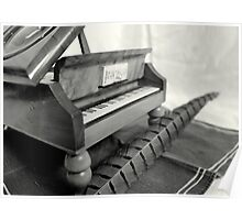 Piano and quill Poster