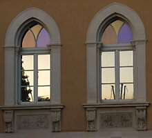 Iridescent Pastels at Sunset - Syracuse Arched Windows by Georgia Mizuleva