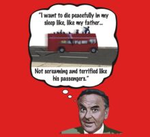 Bob Monkhouse: Terrified Passengers Quote by Cue-Fanfare