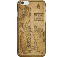 Westeros Map iPhone Case/Skin