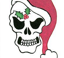 2013 Holiday ATC 10 - Santa Skull by ArtbyMinda