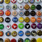 Beer Bottle Caps by WildestArt