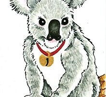 2013 Holiday ATC 13 - Koala with Sleigh Bell by ArtbyMinda