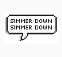 SLSP 'Simmer Down' - 5SOS Speech Bubble by Sophia AL Farrant