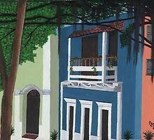 """El Edificio Azul by Myriam """"Lisy""""  Velazquez"""