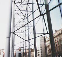 Metal & Glass Mirror by Vanessa  Hayat