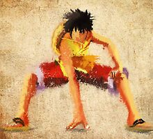 Luffy Grunge  by epyongart