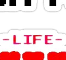 8-bit for life! Sticker
