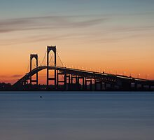 Newport Bridge Sunset, Rhode Island by Joshua McDonough Photography