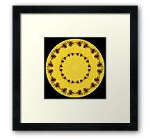 Bee Kaleidoscope 01 Framed Print