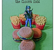 Seizing the Clown's food from the series #FastFoodTurfWar by Tim Constable