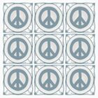Delft blue tile effect Peace symbol by funkyworm