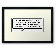 Disconnected Chorus - 5SOS Speech Bubble Framed Print