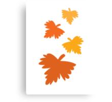4 fall autumn leaves Canvas Print