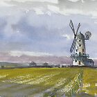 Windmill at Llancayo by LordOtter