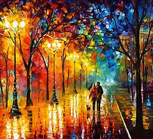LOVE ALLEY By Leonid Afremov by Leonid  Afremov