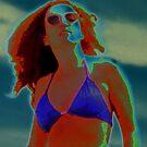 Divine Feminine in a Blue Bikini by field9