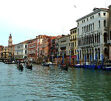Gondolas on the Grand Canal, Venice by ChaosGate