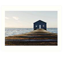 Crawley Edge Boat Shed Perth Art Print