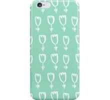 mint tulips iPhone Case/Skin