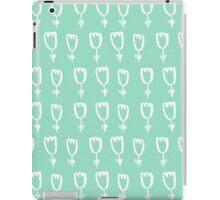 mint tulips iPad Case/Skin