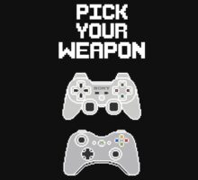 Pick Your Weapon (White Design) by FinalFee