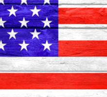 American Flag Vintage Wood Sticker