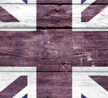 British Flag Vintage Wood Sticker