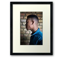 Young male fashion model Framed Print