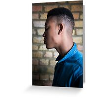 Young male fashion model Greeting Card